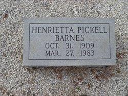 Henrietta Ouzts <I>Pickell</I> Barnes