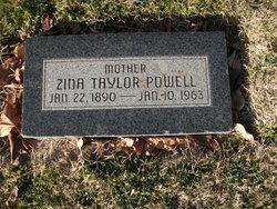 Zina <I>Taylor</I> Powell