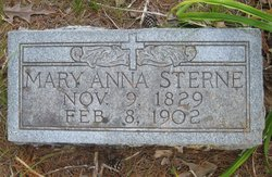 Mary Anna <I>Jones</I> Sterne