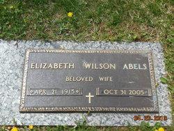 "Elizabeth ""Betty"" <I>Wilson</I> Abels"