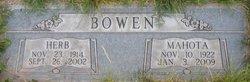 Clara Mahota <I>Robertson</I> Bowen