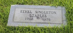 Ethel <I>Singleton</I> Staples