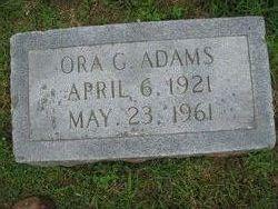 Ora Ethel <I>Grindstaff</I> Adams