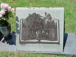 Alice Elizabeth <I>Holland</I> Tipton