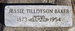 Jessie <I>Tillotson</I> Baker