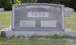 Mattie Blanche <I>Bryant</I> Todd