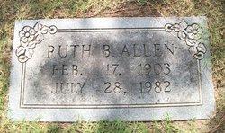 Ruth Elizabeth <I>Beecher</I> Allen