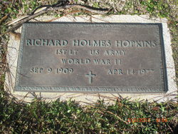 Lieut Richard Holmes Hopkins