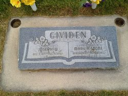 Mary Alice <I>Stone</I> Gividen