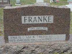 """Linda Bertha """"Ida"""" <I>Pelke</I> Franke"""