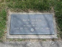 """Jacob """"Jack"""" <I>Hershkovitz</I> Hersh"""