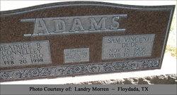 Bulah Beatrice <I>Connelley</I> Adams