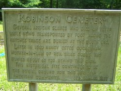 Robinson Chapel Cemetery African American
