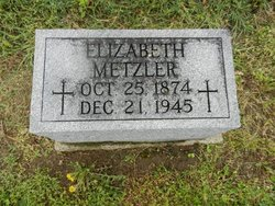 "Elizabeth Maria ""Lizzie"" <I>Roell</I> Metzler"
