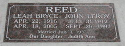 Leah <I>Bryce</I> Reed