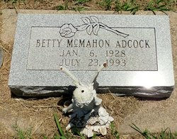 Betty Jean <I>McMahon</I> Adcock