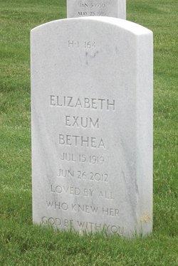 Elizabeth <I>Exum</I> Bethea