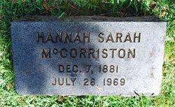 Hannah Sarah McCorriston