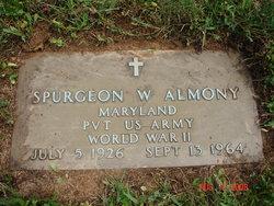 Pvt Spurgeon Wilbur Almony