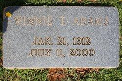 Winnie <I>Tant</I> Adams