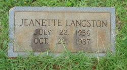 Jeanette Langston