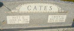 "Lucretia ""Crecy"" <I>Crosby</I> Cates"