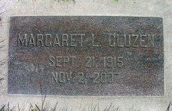 Margaret L <I>Larson</I> Cluzen