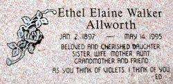 Ethel Elaine <I>Walker</I> Allworth