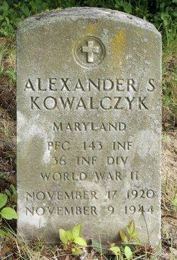 PFC Alexander S. Kowalczyk