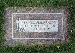 Ramona Edna <I>Webley</I> Condon