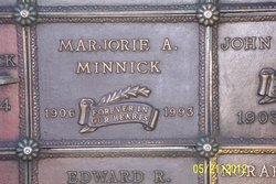 Marjorie A <I>Williams</I> Minnick
