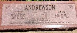 Julia <I>Matson</I> Andrewson