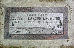 Betty I. <I>Larson</I> Knowlton