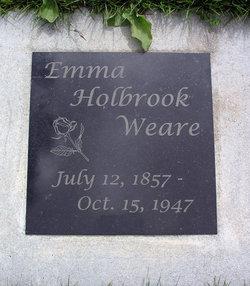 Emma J <I>Holbrook</I> Weare