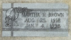 Martha H Brown