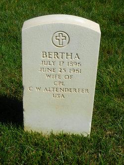 Bertha <I>Sweigart</I> Altenderfer