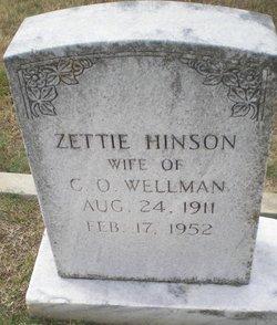 Zettie <I>Hinson</I> Wellman