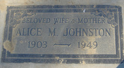 Alice M. Johnston
