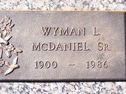 """Wyman Lee """"Mac"""" McDaniel, Sr"""