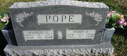 Minnie E Pope