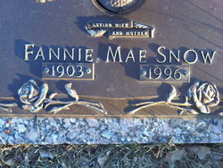 Fannie Mae <I>Goins</I> Snow