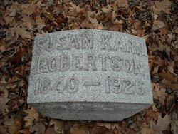 Susan <I>Karn</I> Robertson