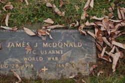 PFC James J McDonald