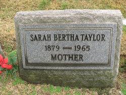 Sarah Bertha Taylor