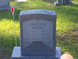 Sarah <I>Dozier</I> Wearing