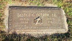 Lester E Fetrow, Sr