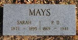 Sarah M. <I>Bates</I> Mays