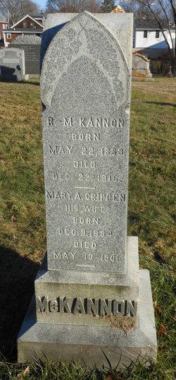 Mary A <I>Crippen</I> McKannon