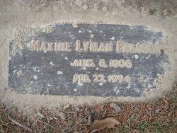 Maxine <I>Lyman</I> Palsgrove