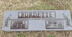 George E Burdette